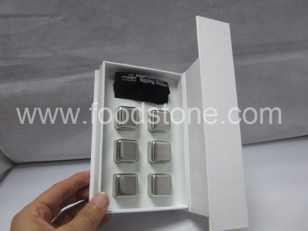 6 Stainless Steel Ice Cubes