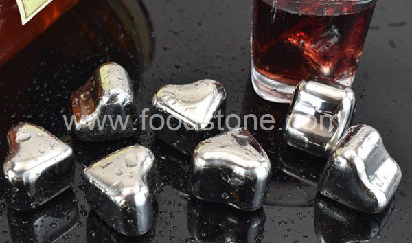 Heart Shape Stainless Steel Ice Cubes