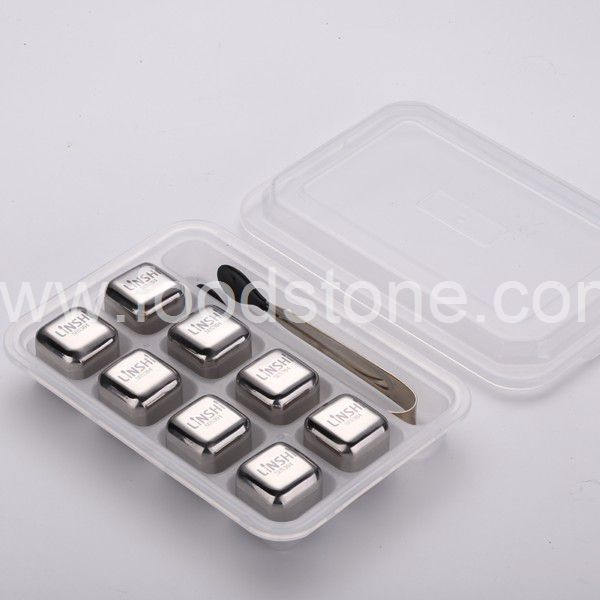 Stainless Steel Ice Cubes (2)