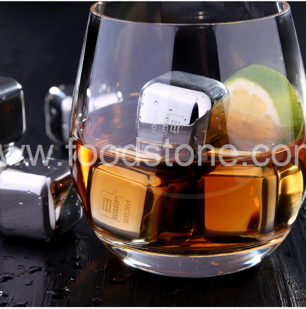 Stainless Steel Ice Cubes (12)
