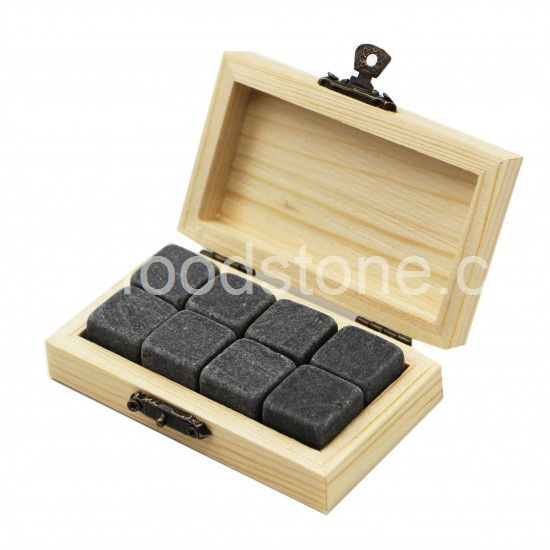 Black Granite Whisky Stones