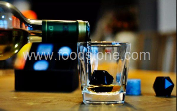 Diamend Shape Black Whisky Stones