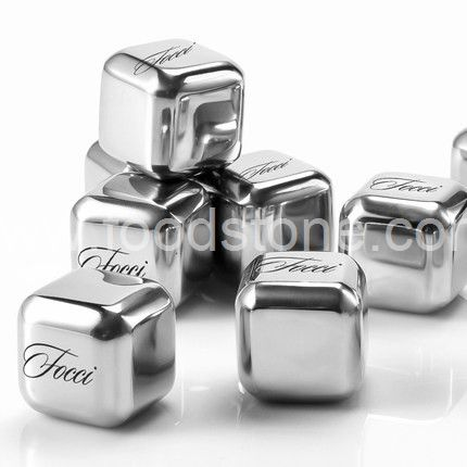Engraved Stainless Steel Ice Cubes  (3)