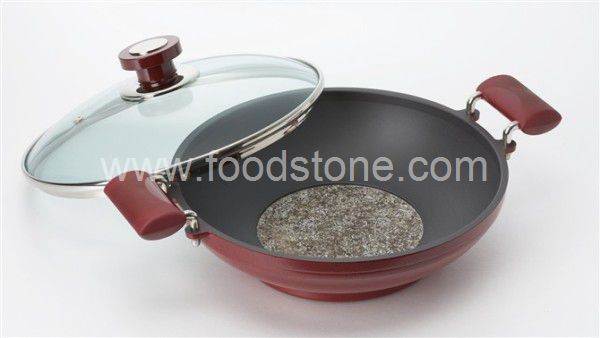 Stone Frying Pan with Glass Lid