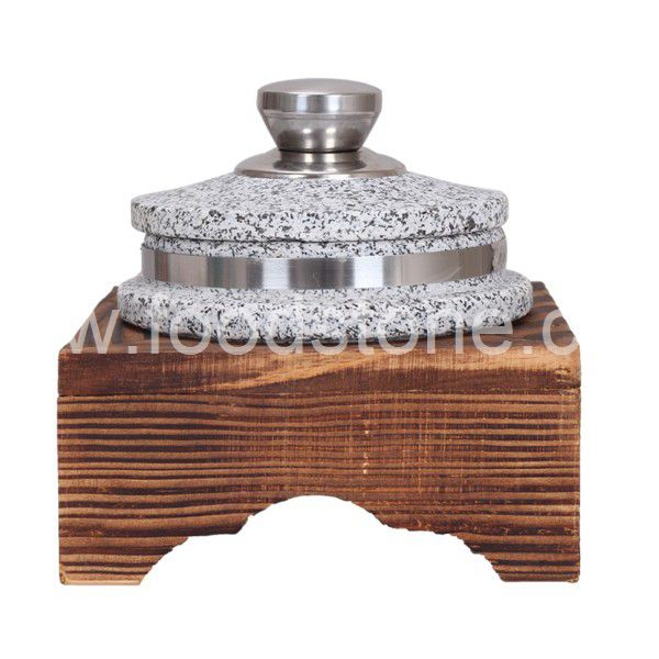 Stone Cooking Pot With Wooden Base