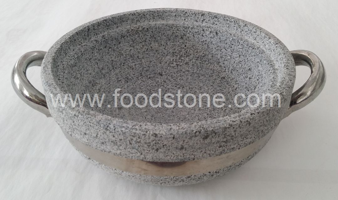 Stone Cooking Bowl With Handle