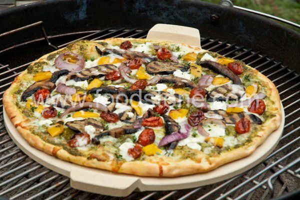 Cordierite Pizza Stone With Handle