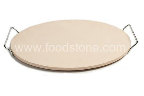 Round Pizza Stone  With Rack