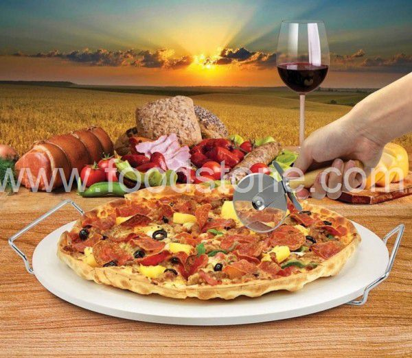 Ceramic Pizza Stone with Cutter