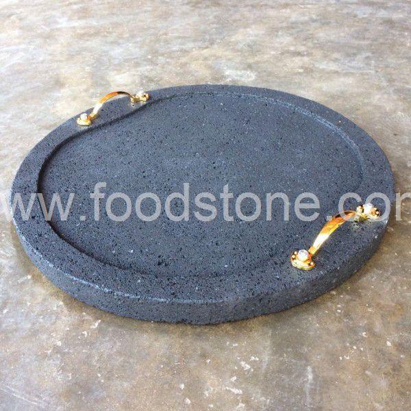 Round Grill Lava Stone