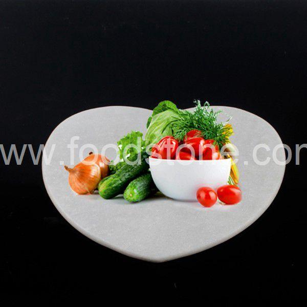 Heart White Marble Cutting Board (1)