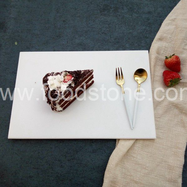 Rectangular White Marble Cutting Board (1)