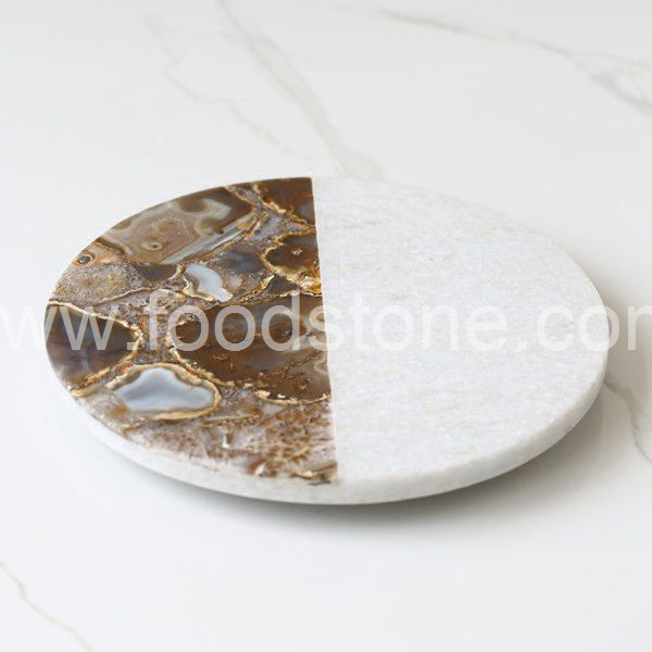 Rectangular White Marble Cutting Board (78)