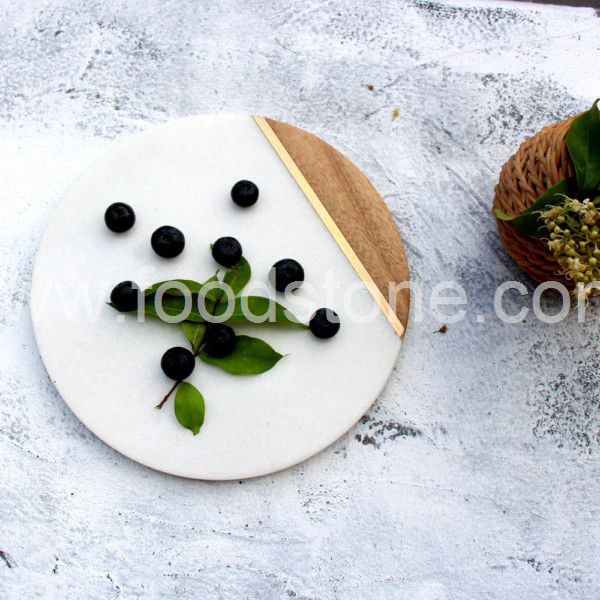 Marble and Wood Cheese Board (2)