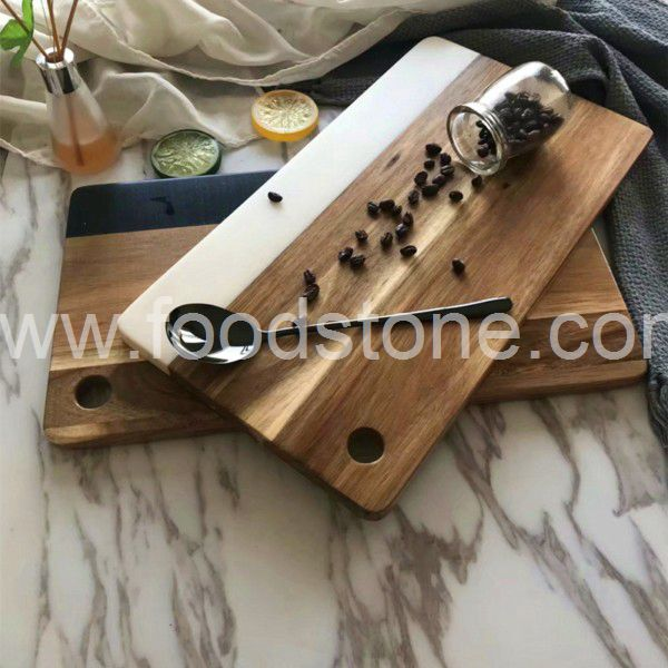 Rectangular Marble and Wood Board
