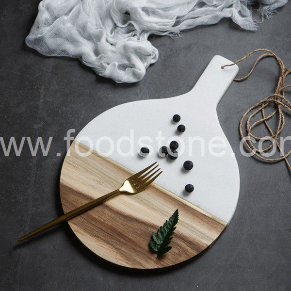 White Marble and Wood Cheese Board (3)